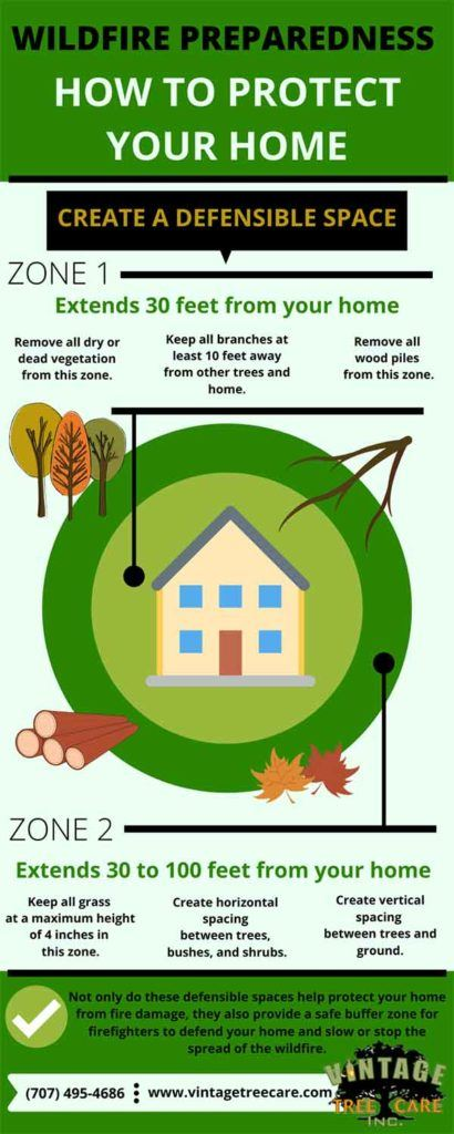 informational graphic how to protect your home from wildfires